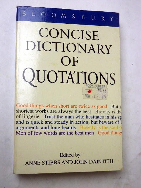 CONCISE DICTIONNARY OF QUOTATIONS